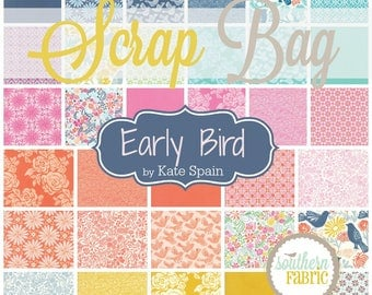 Early Bird - Scrap Bag Quilt Fabric Strips by Kate Spain for Moda