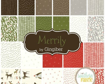 Merrily - Layer Cake by Gingerber for Moda (48210LC) 10 INCH Quilting Fabric