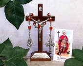 Unbreakable Catholic Relic Chaplet of St. Expedite - Patron Saint of Merchants, Navigators, Prompt Solutions and Against Procrastination