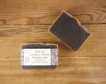 Henna Shampoo Bar - Solid Shampoo Bar - All Natural Shampoo - Palm Free and Vegan Shampoo - Zero Waste Shampoo Soap