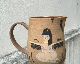 One of a kind ceramic Jug