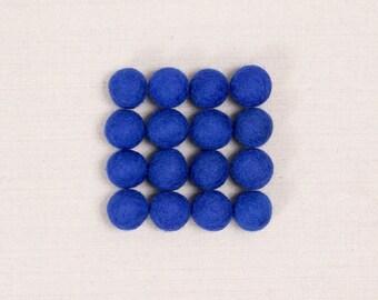 Felt Balls // Blue // Felt Pom, Felt Flower Supplies, Felt Beads, Mobile Crafts, Nursery Decor, Blue Pom Poms, Garland DIY, DIY Neckalce