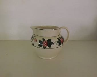 Antique Vintage Titian Ware Pitcher by Adams China England Ivory