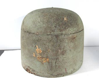 """Balsa Hat Mold VINTAGE Antique MILLINERY Hat Block Hat Mold 26"""" Balsa Wood Display Millinery Supply Fashion Display FREE Shipping (G333)"""
