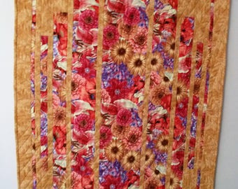 Summer Floral Medley Quilted Wall Hanging