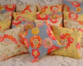 Cheery Lavender Sachets Set of Three Cottage Chic Organic Provence