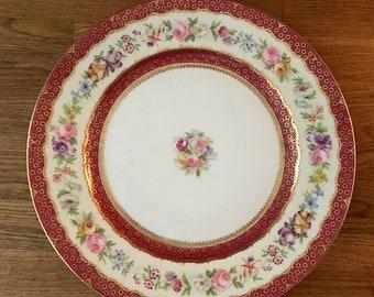 Vintage Limoges Autumn Floral Plate