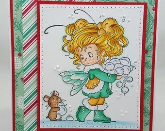 Snowball Christmas - Blank NoteCard, Greetings Card, Handmade Card