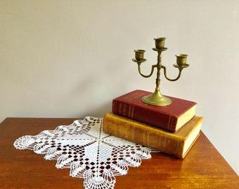 Vintage 3 Arm Brass Candlesticks Candle Holders