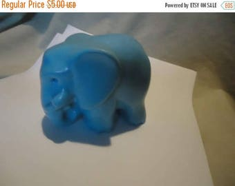 Back Open Sale Vintage Plastic Blue Toy or Figurine, collectable