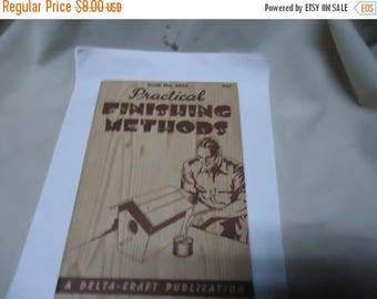 Ephemera & Books 50% Sale Vintage 1940 Practical Finishing Methods Softback Book by The Delta Mfg Co., No. 4543, collectable