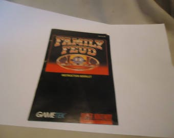 Vintage 1993 Family Feud Instruction Booklet For Super Nintendo, collectable