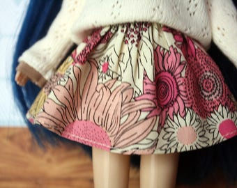 Sunflower Skirt for Blythe & Pullip