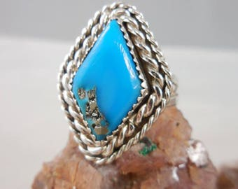 Vintage NativeAmerican Turquoise Sterling Ring