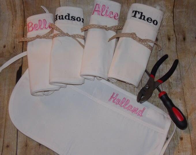 kids Personalized carpenters tool belt - Childs carpenters apron - tool belt - embroider tool belt - tool apron - Children party favor - Kid