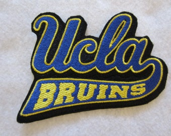 UCLA Bruins Iron On Patch, UCLA, Bruins, Embroidered UCLA Bruins Iron On Patch, Iron On Patch, Iron On Applique, Embroidered Patch