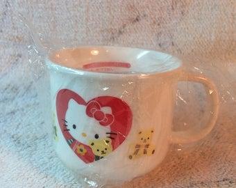 20% SALE 1994 Sanrio Hello Kitty Kawaii Plastic Cup Childrens Cup Melamine