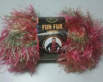Lion Brand Fun Fur Yarn New In Package