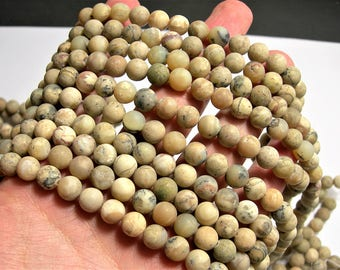 African opal matte - 8mm round beads - full strand - 49 beads -  RFG1546