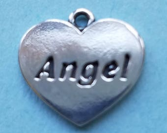 Sterling Silver Heart with Angel