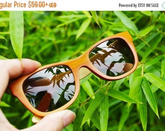 20% off SUMMER SALE TAKEMOTO bamboo Mjx1055 C04 handmade prescription sunglasses  eyeglasses