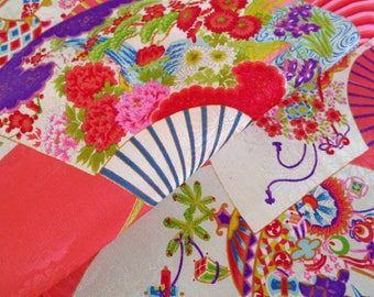 Japanese pure silk from Kyoto Pink Floral pattern