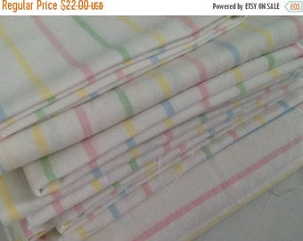 Summer Sale Vintage Sheet Fat Quarter, Quilting Bundle, Baby Fabric