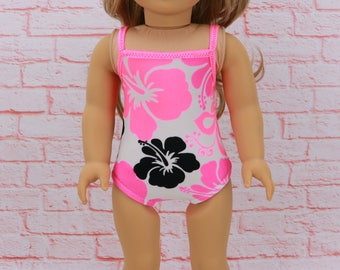 """SALE 18"""" Doll Bathing Suit -  18"""" AG Doll Swimsuit  - American Doll Clothes - 18inch Swim suit and Towel -AG  Doll Bathingsuit and Towel"""