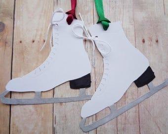 Ice Skate Tags Christmas Gift Tag Skating Party