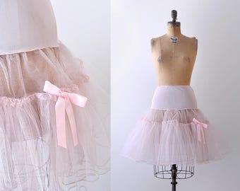 Light pink tulle crinoline. petticoat. square dance. short crinoline. s. m. 1960's