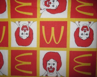Ronald McDonald, Flannel, Fabric, Cotton Flannel, McDonalds, Logo, 32X44,