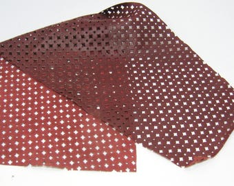 Deep Red Perforated Lamb Leather Piece 151 square inches 4P8