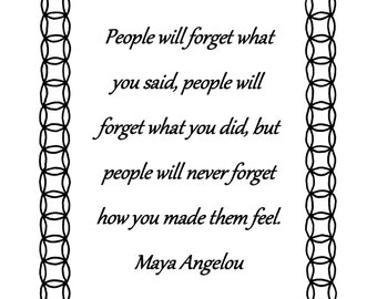 Coloring Page Maya Angelou. People will forget what you said Maya Angelou quote coloring page download Quote  Etsy