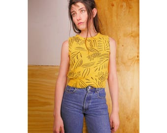 Pineapple Knit Crop Top