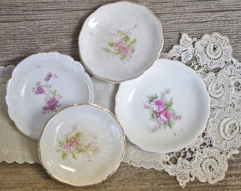 Tiny vintage butter dishes