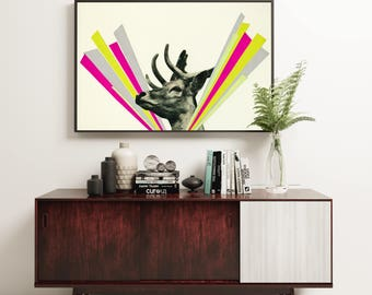 Deer Art Print - Did I Startle You, Dear?