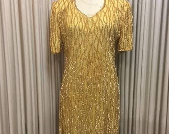 Vintage 1980's Gold Dress