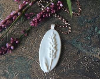 Lady's Thumb Blossom Handmade Polymer Clay Pendant