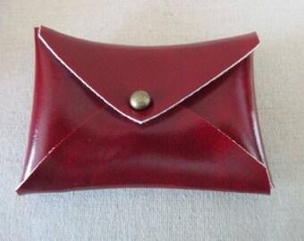Vegan-Leather-Mini-Wallet-Business-Card-Holder-Credit-Cards  Burgundy