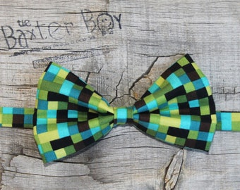 Pixelated Camo bow tie for little boys - photo prop, ring bearer, wedding