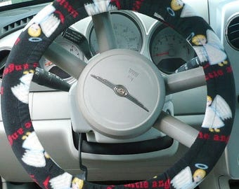 CHRISTMAS IN JULY New Listing - Lil Angels - Fleece Steering Wheel Covers - ( Warm ) - Cars Only - Read Below
