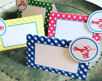 Tricycle Table Tent Signs Trike Signs Table Food Signs