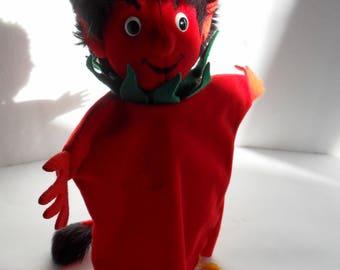 Steiff hand puppet Devil handpuppet  made in Germany 2295