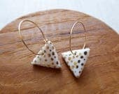 Speckled Triangle Hoop Ea...