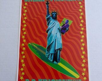 Original Signed Brian Wilson  Concert Poster B.B. King's Club New York City BEACH BOYS