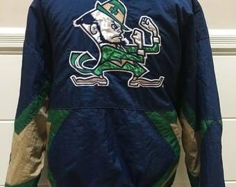 Vintage Notre Dame University Starter Jacket
