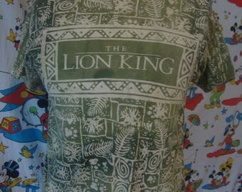 Vintage 90's Walt Disney The Lion King 1994 Movie Promo dope hip hop all over print T Shirt Adult size L