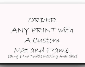 Custom Frame,Custom Print, Order Any Print with Frame,Wall Decor,Home Decor, Barn Wood Frame, Solid Wood,Custom Framing