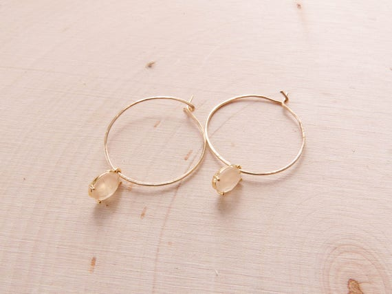 Gold Hoop Earrings | Hoop Earrings | Crystal Earrings | Boho Earrings | Summer Earrings | Drop Earrings | Gold Hoops | Bridal Jewelry