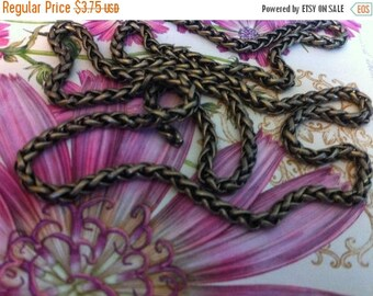 On SALE Vintage Style 3mm PETITE Woven high quality chain chain sturdy Antique BRASS couture 1 foot